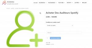 acheter auditeur spotify